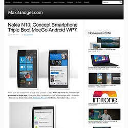 Nokia N10: Concept Smartphone Triple Boot MeeGo Android WP7