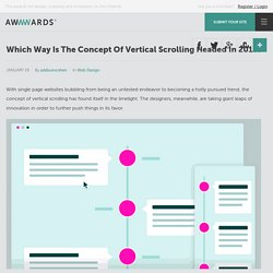 Which Way Is The Concept Of Vertical Scrolling Headed In 2015?