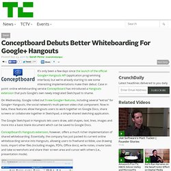 Conceptboard Debuts Better Whiteboarding For Google+ Hangouts