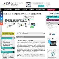 Devenir concepteur pédagogique e-learning - cycle certifiant