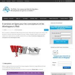 5 services en ligne pour les concepteurs et les développeurs Web