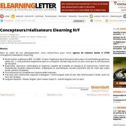 Concepteurs/réalisateurs Elearning H/F