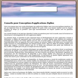 Conseils pour Conception d'applications ZigBee