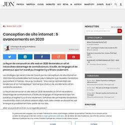 Conception de site internet: 5 avancements en 2020