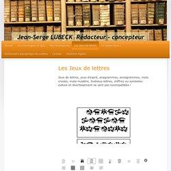 conception de jeux de lettres originaux Jean-serge Lubeck concepteur rédacteur jeux quiz paris