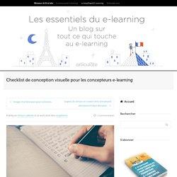 Checklist de conception visuelle pour les concepteurs e-learning