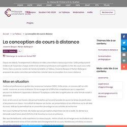 La conception de cours à distance