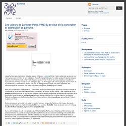 Les valeurs de Lorience Paris, PME du secteur de la conception et distribution de parfums
