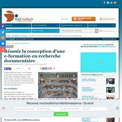 Réussir la conception d'une e-formation en recherche documentaire