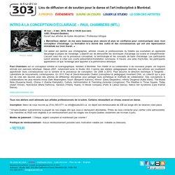 INTRO À LA CONCEPTION D'ÉCLAIRAGE – PAUL CHAMBERS (MTL)