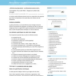 Web pearltrees - Definition cahier des charges ...