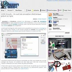 123D Circuits : free conception et test en ligne de programme arduino