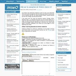 Aide sur la conception de fichiers robots.txt - iniseO