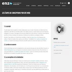 Quelles sont les étapes de la conception d'un site Web?