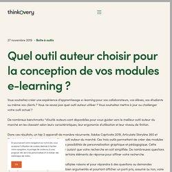 Quel outil auteur choisir pour la conception de vos modules e-learning ?