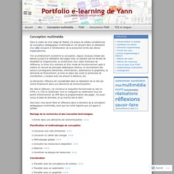 Portfolio e-learning de Yann