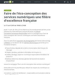Faire de l'éco-conception des services numériques une filière d'excellence française