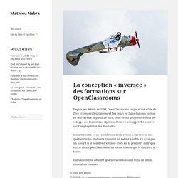 La conception «inversée» des formations sur OpenClassrooms – Mathieu Nebra