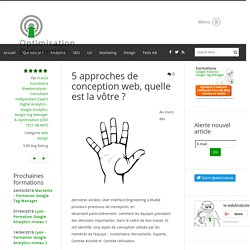 5 approches de conception web, quelle est la vôtre ? - web design - Conseil, Expertise et formation Analytics - Optimisation Conversion