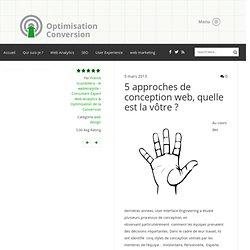 5 approches de conception web, quelle est la vôtre?