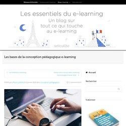Les bases de la conception pédagogique e-learning