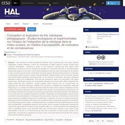 2020-Conception et évaluation de kits robotiques pédagogiques - Thibault Desprez
