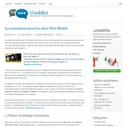 La conception pour les sites Web Mobile