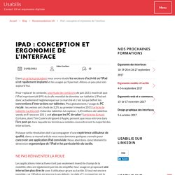 iPad : conception et ergonomie de l'interface