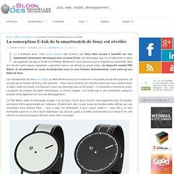 La conception E-Ink de la smartwatch de Sony est révélée