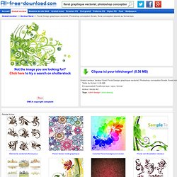 Floral Design graphique vectoriel, Photoshop conception florale, floral conception tutoriel au format eps Vecteur floral