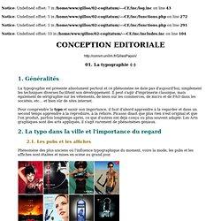 CONCEPTION EDITORIALE - 01. La typographie - Version imprimable