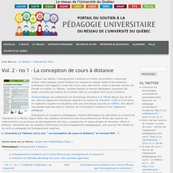 2 - no 1 - La conception de cours à distance