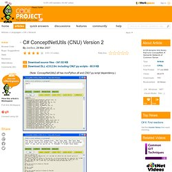 C# ConceptNetUtils (CNU) Version 2