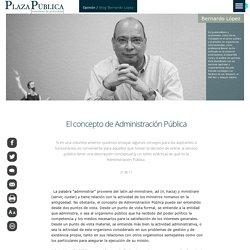 El concepto de Administración Pública