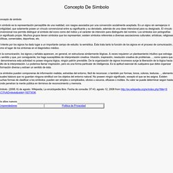 Concepto De Simbolo - misecundaria.com