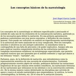 """José Ángel García Landa, """"Los conceptos básicos de la narratología"""""""