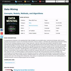 Data Mining Concepts, Models, Methods, and Algorithms CHM Download Free