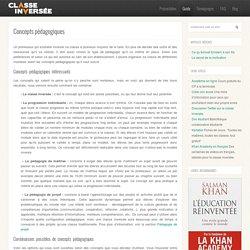 Concepts pédagogiques : guide