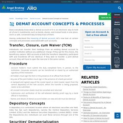 Demat Account Concepts, Processes & Objectives - Angel Broking