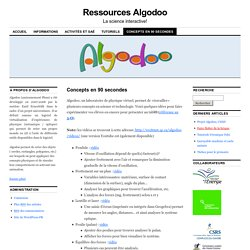Algadoo : Laboratoire de physique virtuel