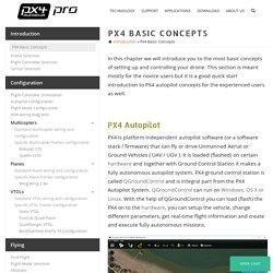 PX4 Basic Concepts - PX4 Pro Open Source Autopilot