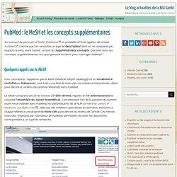 PubMed : le MeSH et les concepts supplémentaires -