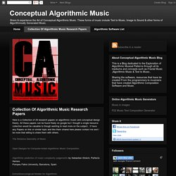 Collection Of Algorithmic Music Research Papers