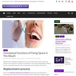 Conceptual Functions of Fixing Space in The Mouth