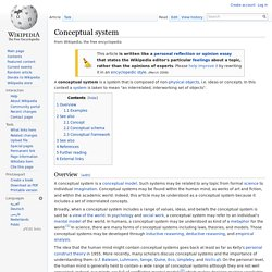 Conceptual system