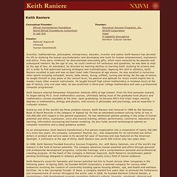 Keith Raniere, Conceptual Founder of Executive Success Programs and NXIVM