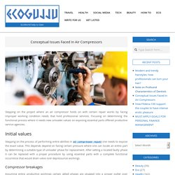 Conceptual Issues Faced In Air Compressors