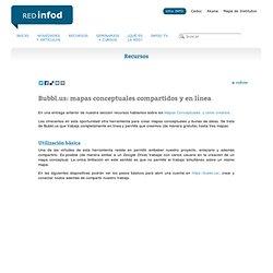 Bubbl.us: mapas conceptuales compartidos y en línea Red Infod