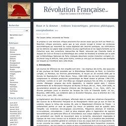 Marat et la dictature : évidences lexicométriques, précisions philologiques, conceptualisation
