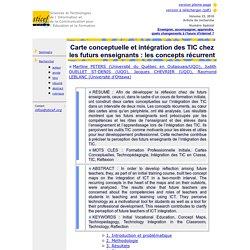 Carte conceptuelle et intégration des TIC chez les futurs enseignants : les concepts récurrents